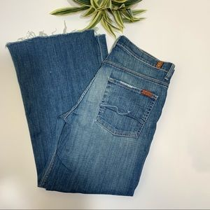 7 For All Mankind Ginger Raw Hem Jeans Size 31